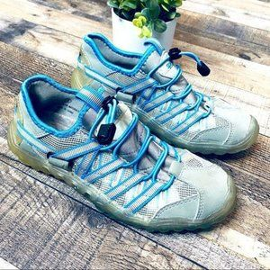 Speedo Trail Running Water Shoes Size 7 Blue Gray